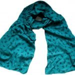 turquoise ant print scarf